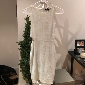 Silver and white party dress